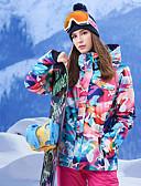 abordables Pantalones para Mujer-GSOU SNOW Mujer Chaqueta de Esquí Resistente al Viento, Impermeable, Mantiene abrigado Esquí / Deportes de Invierno 100% Poliéster Chaqueta de Invierno / Top Ropa de Esquí / Transpirable