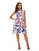 preiswerte Minikleider-Damen Elegant Swing Kleid - Druck, Geometrisch Übers Knie