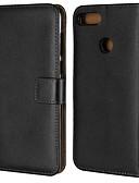 levne Pouzdra telefonu-Carcasă Pro Huawei Y9 (2018)(Enjoy 8 Plus) / Y6 (2018) Peněženka / Pouzdro na karty / se stojánkem Celý kryt Jednobarevné Pevné Pravá kůže pro Mate 10 / Mate 10 lite / Y9 (2018)(Enjoy 8 Plus)