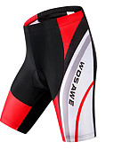 baratos Tops Femininos-WOSAWE Homens Bermudas Acolchoadas Para Ciclismo Moto Shorts Acolchoados / Calças Clássico Poliéster, Elastano Vermelho Preto Roupa de