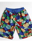 זול בגדי ים לגברים-L XL XXL גיאומטרי, בגדי ים חלקים תחתונים מכנסי שחייה פול בסיסי בגדי ריקוד גברים / סקסית