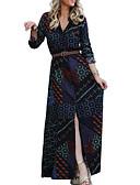 povoljno Ženske haljine-Žene Osnovni Korice Haljina Geometrijski oblici Maxi