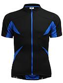 hesapli Seksi Kadın Kıyafetleri-Jaggad Erkek Kadın's Unisex Kısa Kollu Bisiklet Forması - Siyah Kırk Yama Bisiklet Forma Üstler, Hızlı Kuruma Nefes Alabilir, Yaz, Polyester Elastane