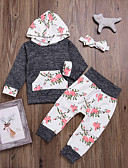povoljno Kompletići za bebe-Dijete Djevojčice Cvjetni print Dugih rukava Komplet odjeće