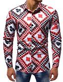 ieftine Tricou Bărbați-Bărbați Cămașă De Bază - Floral / Bloc Culoare