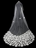 """זול הינומות חתונה-שכבה אחת סגנון וינטאג' / סגנון פרח הינומות חתונה צעיפי קפלה עם עלי כותרת / מוצק 118.11 אינץ' (300 ס""""מ) תחרה / טול"""
