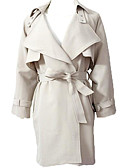 זול הלבשה תחתונה אופנתית-בגדי ריקוד נשים חום ורוד מסמיק בז' מידה אחת בלשית ארוך סגנון רחוב אחיד ליציאה