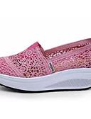 olcso Póló-Női Kényelmes cipők Csipke Nyár Sportcipők Swing cipők Lapos Fekete / Sötétkék / Fukszia