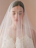 Χαμηλού Κόστους Πέπλα Γάμου-Μίας Βαθμίδας Πεπαλαιωμένο Στυλ / Κλασσικό στυλ Πέπλα Γάμου Πέπλα Δαχτύλων με Διακοσμητικά Επιράμματα / Μονόχρωμο Δαντέλα / Τούλι
