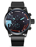 cheap Sport Watches-Men's Sport Watch Quartz 50 m Water Resistant / Water Proof Calendar / date / day Compass Rubber Band Analog Fashion Black - Red Green Blue One Year Battery Life / Stopwatch / Large Dial