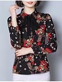 ieftine Bluze de Damă-Pentru femei Guler Cămașă Bluză Muncă Floral / Zvelt