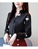 ieftine Tricou-Pentru femei În V Bluză Mată / Floral