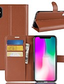 cheap iPhone Cases-Case For Apple iPhone XS / iPhone XR Wallet / Card Holder / Flip Full Body Cases Solid Colored Hard PU Leather for iPhone XS / iPhone XR / iPhone XS Max