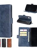hesapli iPhone Kılıfları-Pouzdro Uyumluluk Apple iPhone X / iPhone 8 Plus / iPhone 8 Cüzdan / Kart Tutucu / Satandlı Tam Kaplama Kılıf Solid Sert PU Deri