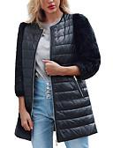 abordables Abrigos de pieles y de piel sintético de mujer-Mujer Sofisticado Abrigo de Piel Bloques