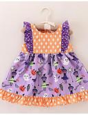 tanie Sukienki dla niemowląt-Dziecko Dla dziewczynek Podstawowy Groszki / Nadruk Bez rękawów Bawełna / Poliester Sukienka Fioletowy