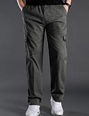 זול מכנסיים ושורטים לגברים-בגדי ריקוד גברים מידות גדולות רזה צ'ינו מכנסיים - אחיד אפור כהה