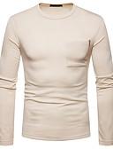 billige Hettegensere og gensere til herrer-Rund hals T-skjorte Herre - Ensfarget / Langermet