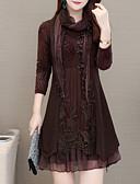 billige Romantiske blonder-Dame Grunnleggende Skjede Kjole - Ensfarget, Blonde Mini