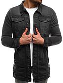 cheap Men's Jackets & Coats-Men's Basic Denim Jacket - Solid Colored