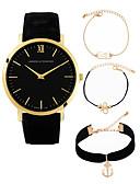 ieftine Quartz-Bărbați Pentru femei Ceas Elegant Ceas de Mână Quartz Cronograf Draguț Creative Piele Bandă Analog Casual Modă Negru / Maro / Gri - Maro Auriu Auriu / Negru Alb / Auriu Un an Durată de Viaţă Baterie