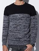 povoljno Muške jakne i kaputi-Muškarci Izlasci Ulični šik Color block Dugih rukava Regularna Pullover, Okrugli izrez Plava / Crn / Red L / XL / XXL
