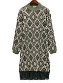 povoljno Ženske haljine-Žene Elegantno Pletivo Haljina Geometrijski oblici Do koljena