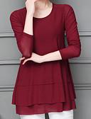 olcso Blúz-Utcai sikk Női Póló - Egyszínű