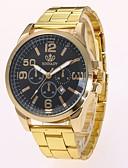 ieftine Ceasuri de Lux-Bărbați Ceas Elegant Ceas de Mână Quartz Calendar Model nou Ceas Casual Aliaj Bandă Analog Casual Modă Auriu - Auriu Negru Un an Durată de Viaţă Baterie