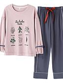 abordables Batas y ropa de dormir-Mujer Escote Redondo Traje Pijamas Galaxia