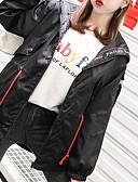 abordables Blazers y Chaquetas de Mujer-Chaqueta de mujer - color sólido con capucha