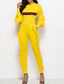 Χαμηλού Κόστους Ανδρικά μπλουζάκια και φανελάκια-Γυναικεία Καθημερινά Βασικό Βυσσινί Κίτρινο Κρασί Μολύβι Φόρμες, Μονόχρωμο M L XL Βαμβάκι Αμάνικο Άνοιξη Καλοκαίρι