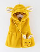 お買い得  女児ジャケット&コート-幼児 女の子 ベーシック ソリッド 長袖 コットン ジャケット&コート グレー
