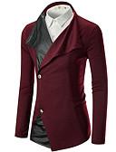 povoljno Maxi haljine-Muškarci Dnevno Aktivan Normalne dužine Sako, Jednobojni Kragna košulje Dugih rukava Poliester Red / Tamno siva / Svijetlosiva L / XL / XXL