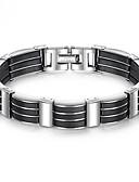 cheap Men's Blazers & Suits-Men's Thick Chain Bracelet - Stainless Steel, Titanium Steel, Platinum Plated Unique Design, Trendy Bracelet Black For Street