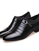 זול חליפות לנושאי הטבעת-בגדי ריקוד גברים נעליים פורמליות מיקרופייבר אביב עסקים נעליים ללא שרוכים לבן / שחור / חום
