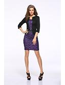 זול תחרה רומטנית-מעל הברך תחרה, פרחוני - שמלה גזרת A / צינור וינטאג' / בסיסי בגדי ריקוד נשים
