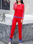 ieftine Costum Damă Două Bucăți-Pentru femei De Bază Set - Mată, Pantaloni Peteci