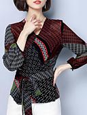 ieftine Bluză-Pentru femei În V Bluză Bloc Culoare