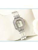 cheap Fashion Watches-Women's Wrist Watch Quartz Silver / Gold Imitation Diamond Analog Fashion - Gold Silver / Stainless Steel