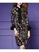 ieftine Bluză-Pentru femei De Bază Mărime Plus Size Bumbac Pantaloni - Floral Funde Trifoi / Petrecere / Stil Nautic