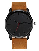 cheap Men's Watches-Men's Wrist Watch Quartz Chronograph Creative Casual Watch Leather Band Analog Fashion Minimalist Black / Brown - Brown Brown black Black / White One Year Battery Life