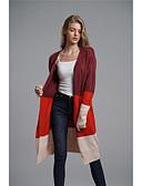 baratos Súeteres Femininas-Mulheres Básico Carregam - Estampa Colorida, Patchwork