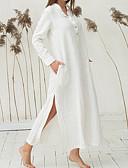 preiswerte Bedruckte Kleider-Damen Grundlegend Übergrössen Hose - Solide Blau / Ständer
