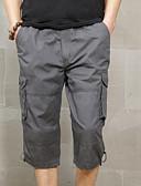 olcso Férfi nadrágok és rövidnadrágok-Férfi Katonai Vékony Cargo nadrágok Nadrág - Egyszínű Fekete