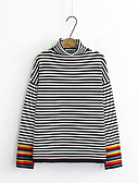 cheap Women's Blouses-women's long sleeve loose pullover - striped