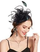 povoljno Ukrasi za kosu-Žene Kentucky Derby Vintage Elegantno Tekstil Kubični Zirconia Šeširi Vjenčanje Party - Jednobojni / Saten / Sva doba