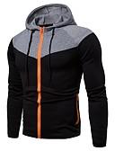 cheap Men's Hoodies & Sweatshirts-Men's Basic Long Sleeve Loose Hoodie - Solid Colored Hooded Black XL / Fall / Winter
