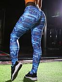 preiswerte Damen Leggings-Damen Alltag Sportlich Legging - Geometrisch / Galaxis Mittlere Taillenlinie