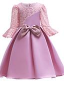 povoljno Haljine za djevojčice-Djeca Djevojčice slatko Jednobojni Kratkih rukava Haljina Blushing Pink